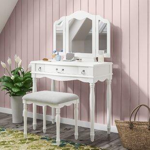 Ducan Vanity Set with Mirror by Harriet Bee