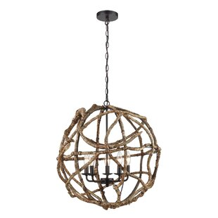 Lupo 5-Light Globe Chandelier by Millwood Pines