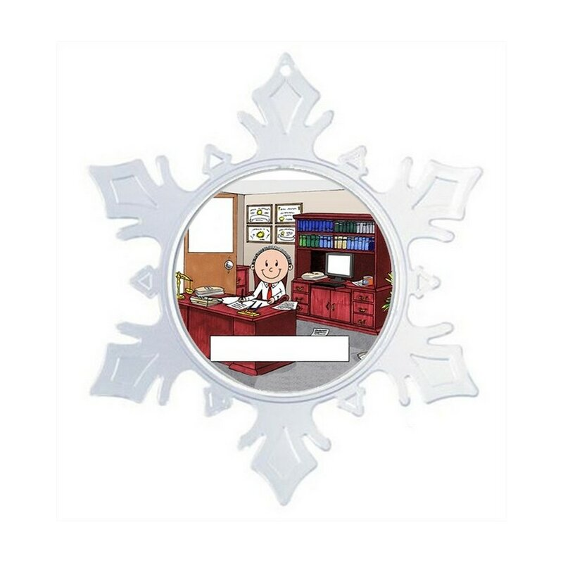The Holiday Aisle Personalized Friendly Folks Cartoon Snowflake Lawyer Attorney Judge Christmas Holiday Shaped Ornament Wayfair