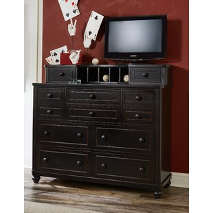 Aerial 10 Drawer Dresser with Mirror