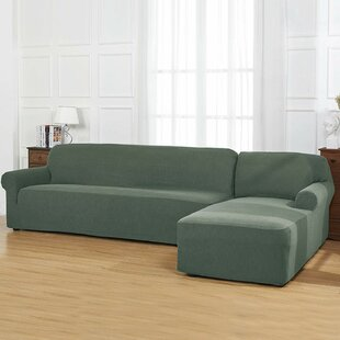 Masuna L-Shaped Jacquard Stretch Box Cushion Sofa Slipcover