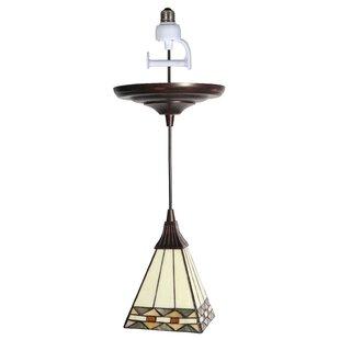 Charlton Home Boden Tiffany 1-Light Geometric Pendant