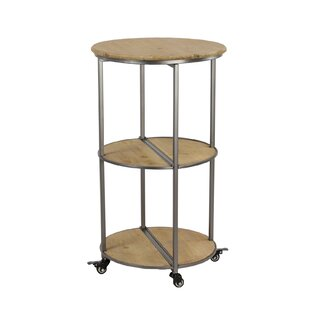 Ramos Round Collapsible Rolling Bar Cart by Williston Forge