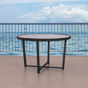 Elvie Wide Patio Wicker Dining Table