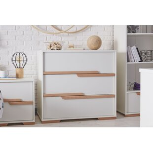 Price Sale Snap 3 Drawer Bedside Table