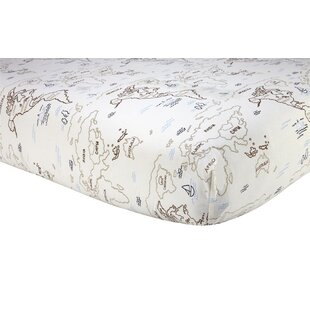 Order World Map Fitted Crib Sheet By Sadie & Scout