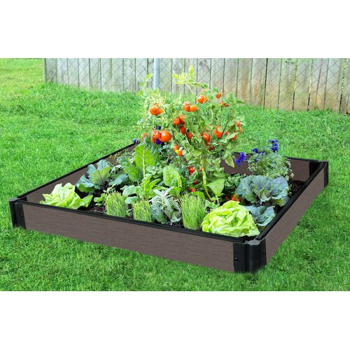 Outdoor Raised Garden Bed 3U Bed Plastic Raised Garden UV Protected Wood Plastic Composite with a Simulated Wood Comes with Three Conjoined Garden Beds /& Micro Irrigation Kit Designed