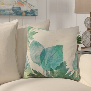Westmont Watercolor Leaves Down Filled Throw Pillow