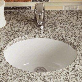 Polaris Sinks Vitreous China Oval Undermount Bathroom Sink