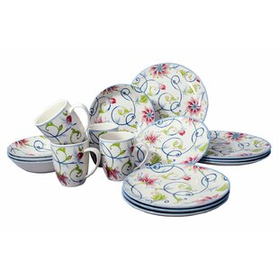 Royal Ivy 16 Piece Dinnerware Set, Service for 4