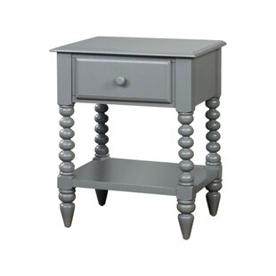 Read Reviews West Wick Modish Shrewd 1 Drawer Nightstand by Breakwater Bay