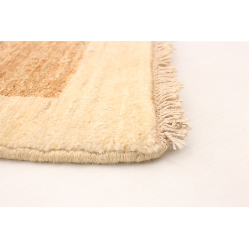 Ebern Designs One Of A Kind Agridaki Striped Hand Knotted Runner 2