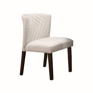 Aareona Upholstered Parsons Chair in Off White Set of 2 by Red Barrel Studio