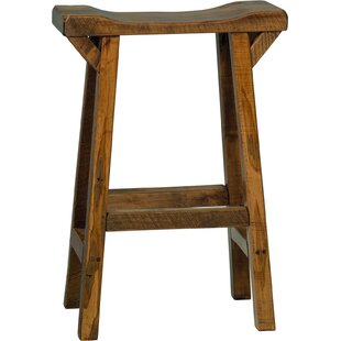 Sussex Western Twist Saddle Stool - Provincial Stain Millwood Pines