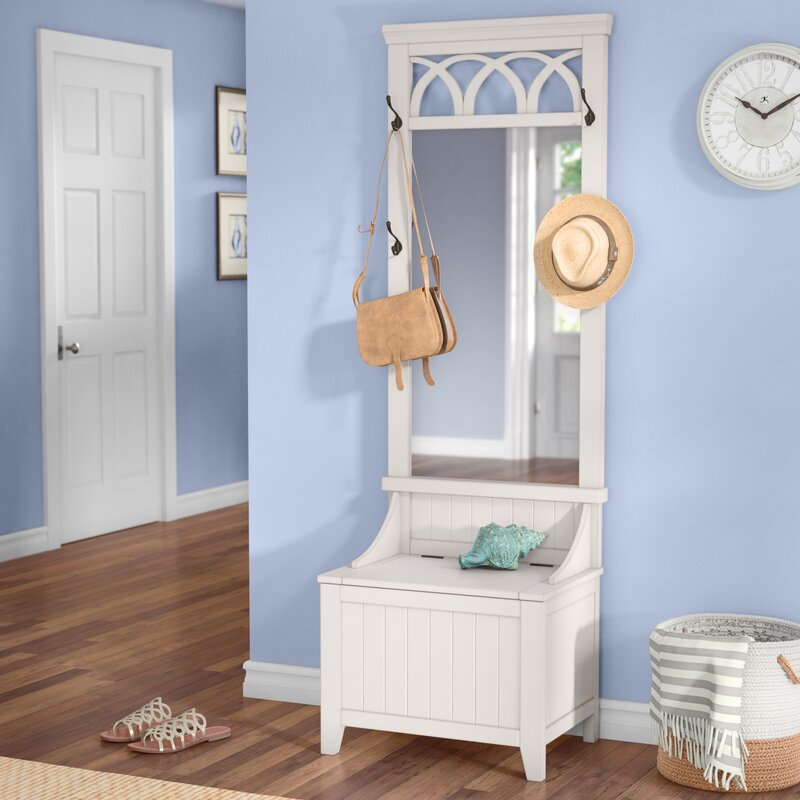 Hall Tree Bench With Mirror Wayfair