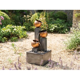 Review Hapeville Metal Water Feature With LED Light