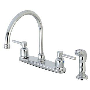 Kingston Brass Centurion Centerset Gooseneck Spout Double Handle Kitchen Faucet