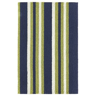 Cranford Stripe Hand-Woven Gray Indoor/Outdoor Area Rug