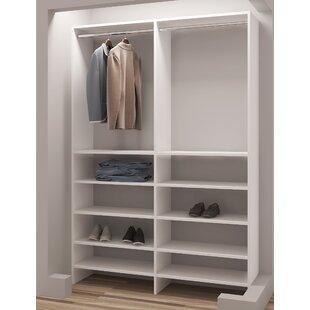 Best Reviews Demure Design 56W Closet System ByTidySquares Inc.