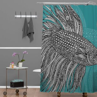 Beta Fish Single Shower Curtain