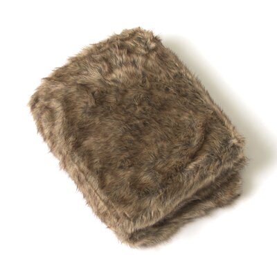 Loon Peak Onondaga Coyote Faux Fur Throw Size: 84 L x 58 W