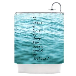 Find the perfect Crave Love Shower Curtain ByEast Urban Home