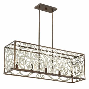 Mayra Linear 5-Light Kitchen Island Pendant by Ophelia & Co.