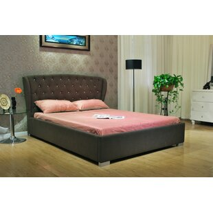 Greatime Queen Upholstered Panel Bed