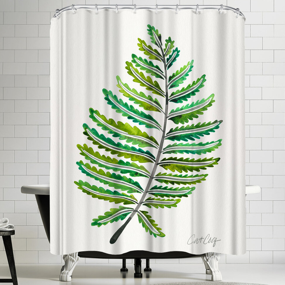 East Urban Home Fern Leaf Shower Curtain