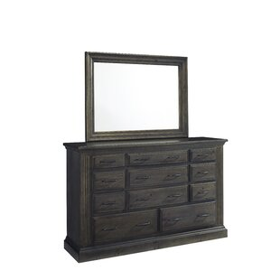 Loon Peak Pasley 11 Drawer Dresser with Mirror