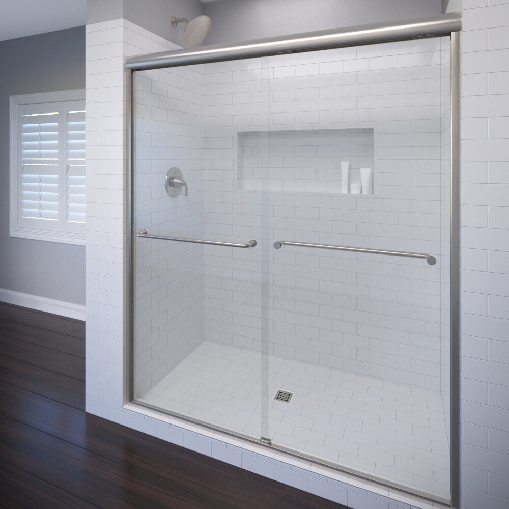Basco Celesta 48 X 72 Frameless Bypass Sliding Shower Door Wayfair