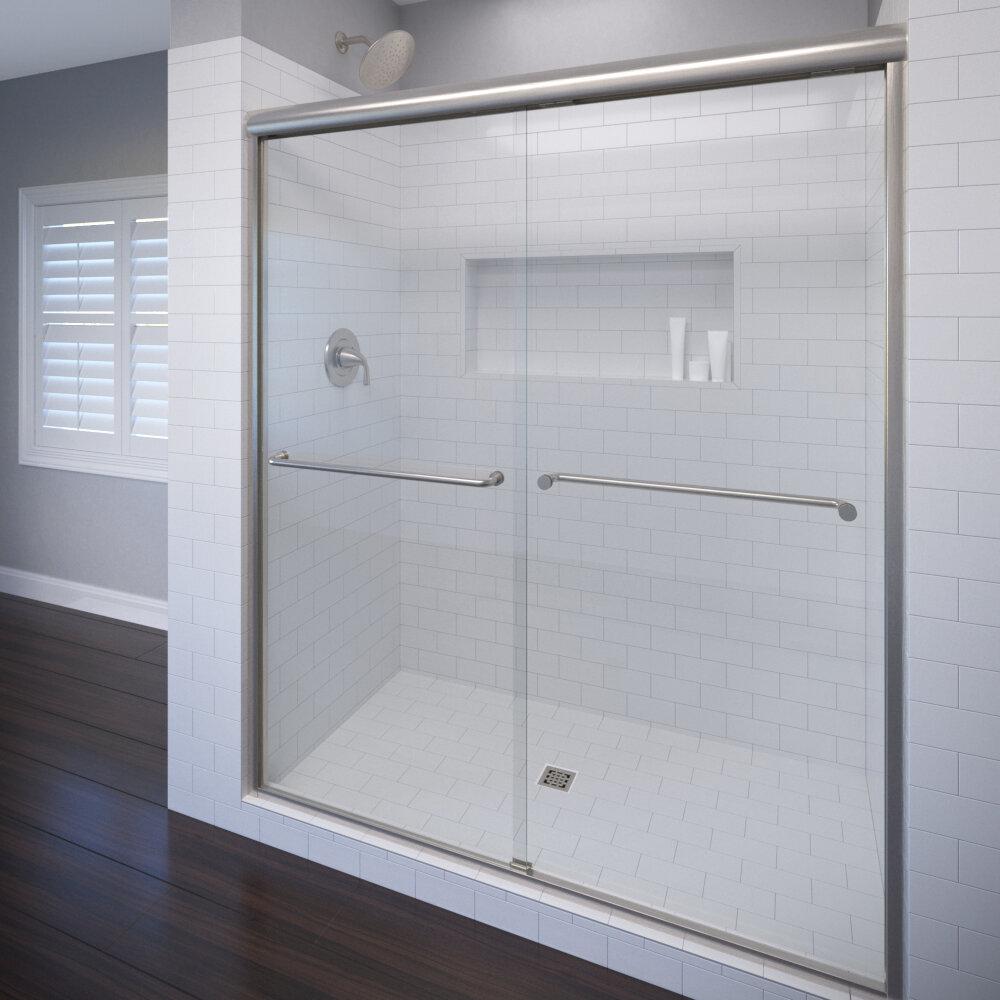 Basco Celesta 60 X 72 Frameless Byp Sliding Shower Door Reviews Wayfair
