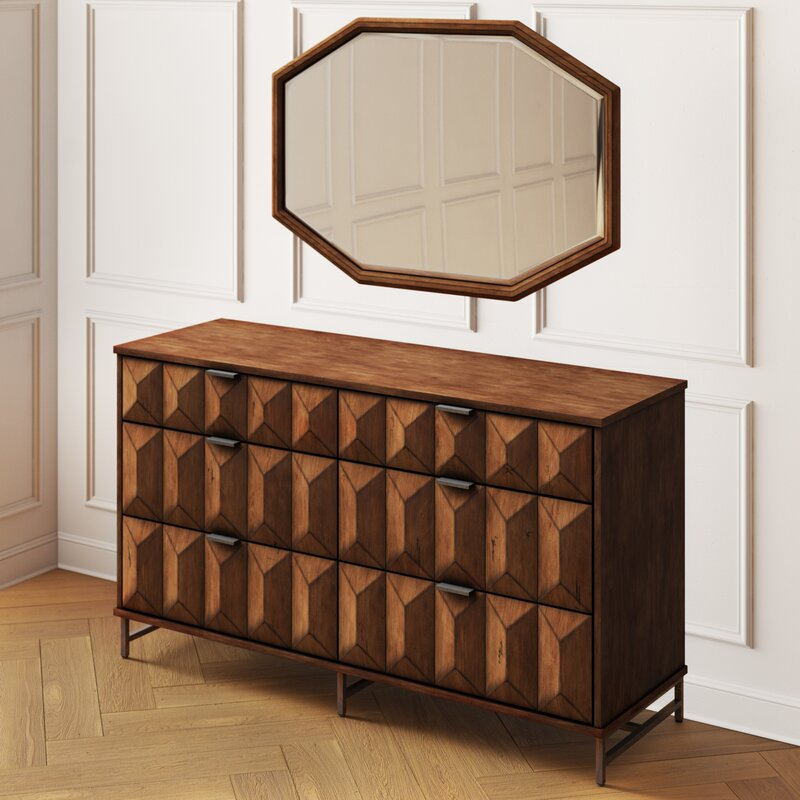 Lamberta 6 Drawer Combo Dresser With