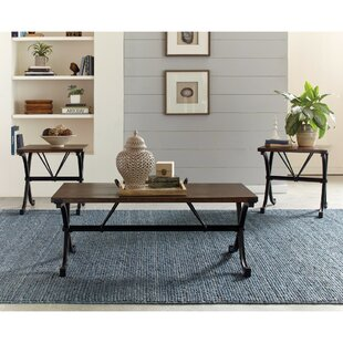 Gracie Oaks Penright 3 Piece Coffee Table Set