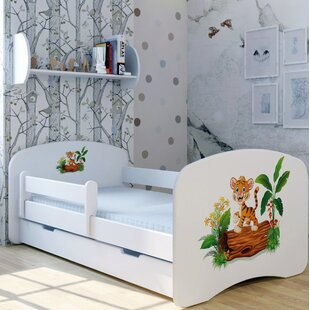 Tiger Thilo Bed With Mattress And Drawer By Zoomie Kids