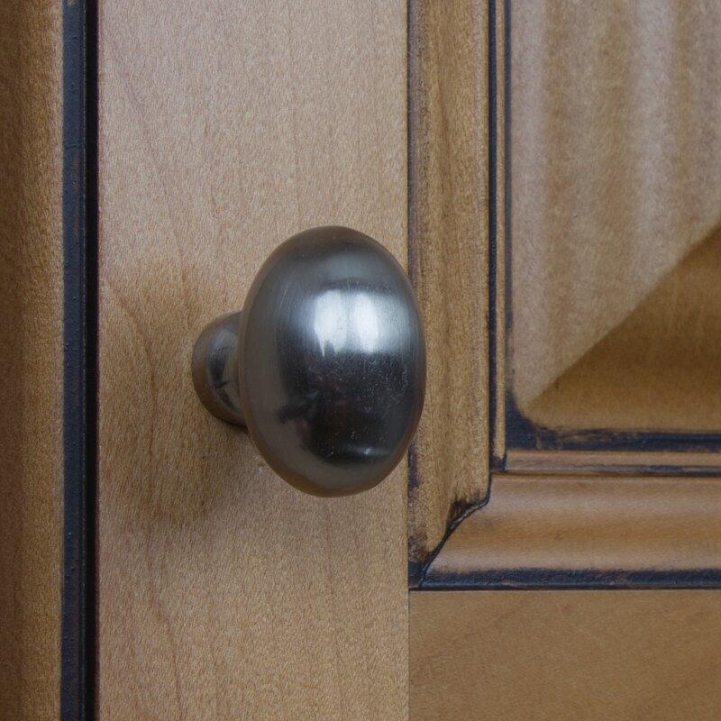 Gliderite Hardware Classic 1 1 8 Length Oval Knob Reviews Wayfair