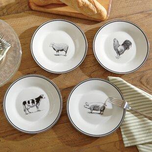 Ohatchee Farm Animals Ceramic Dessert Plates (Set of 4)