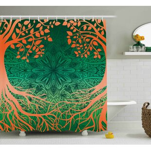 Arabelle Asian Mandala Symbols Single Shower Curtain