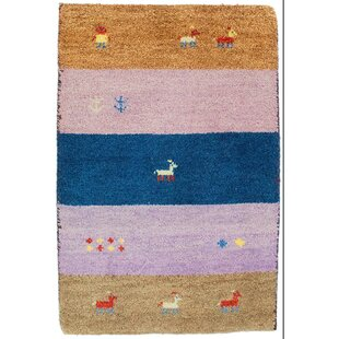 Rossett Handwoven Wool Blue/Pink/Orange Indoor/Outdoor Rug By Bloomsbury Market