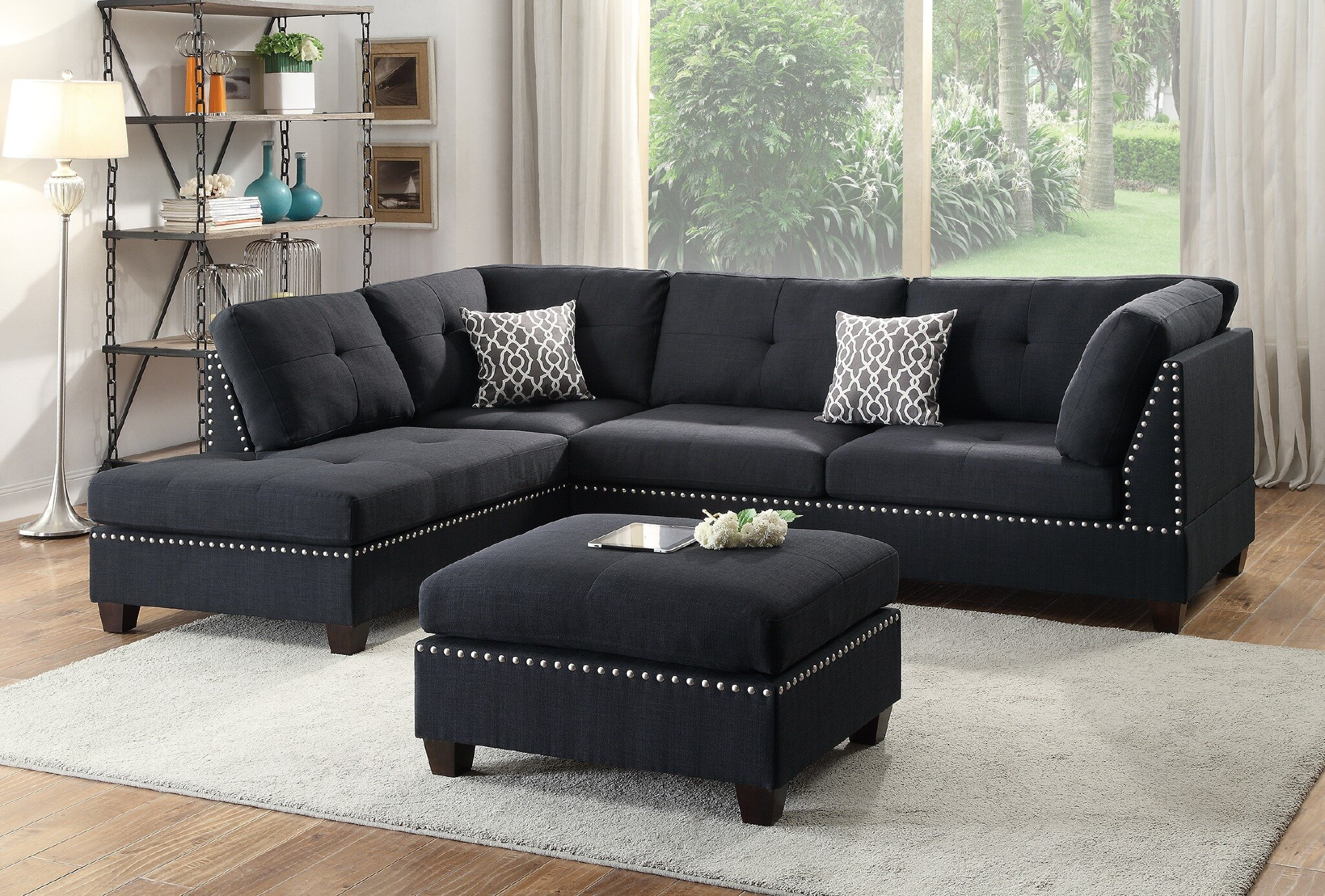 Winston Porter Raelyn Reversible Sectional With Ottoman Reviews