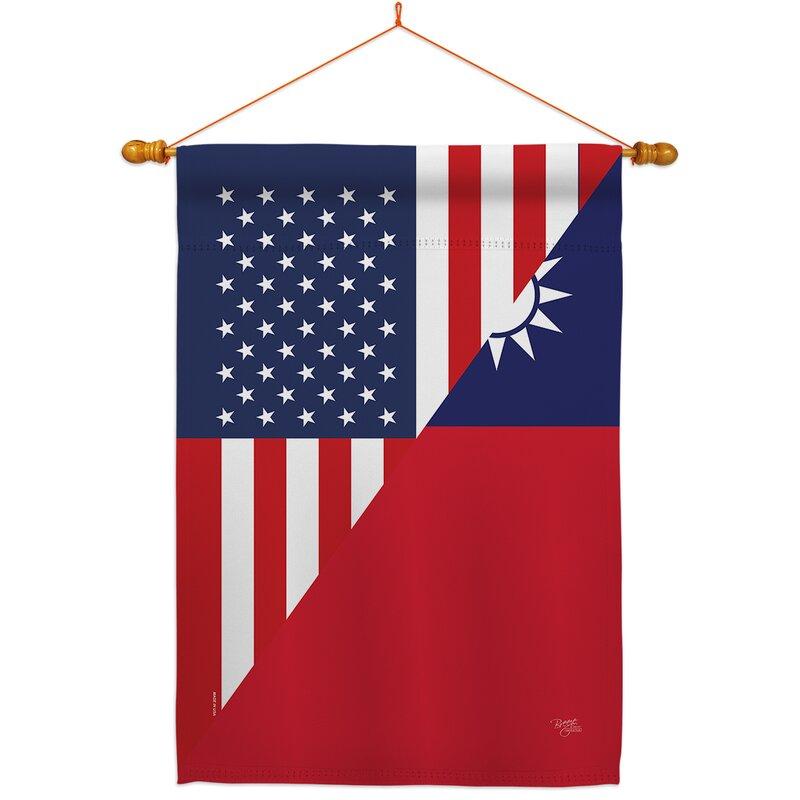 Breeze Decor American Taiwan Friendship Impressions Decorative Dowel 2 Sided 40 X 40 In Polyester Flag Set Wayfair