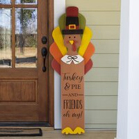 Deals on The Holiday Aisle Wooden Turkey Porch Sign