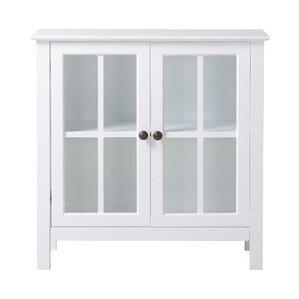 Glass 2 Door Accent Cabinet