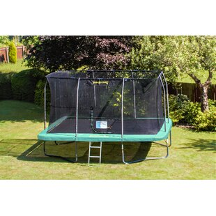 Rectangular 14' Backyard Trampoline With Safety Enclosure By JumpKing