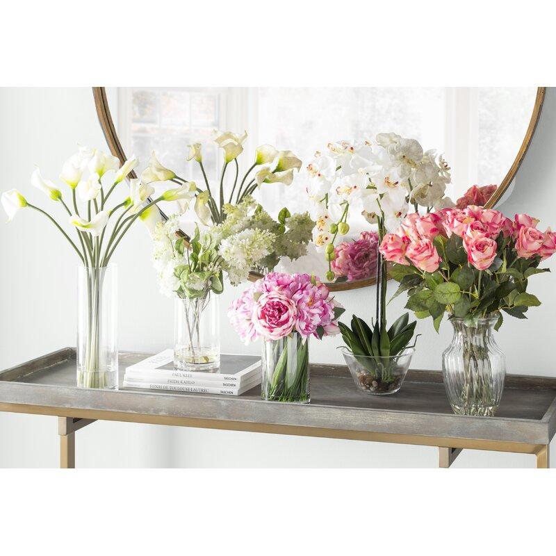 Beachcrest home quincy lilac silk flower arrangement in vase quincy lilac silk flower arrangement in vase mightylinksfo