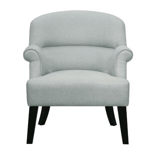 Vennie Oak Upholstered Roll Armchair by Highland Dunes