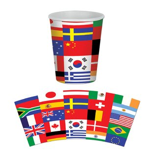 International Flag Paper Disposable Cup