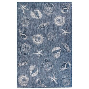 Desantiago Shells Navy Indoor/Outdoor Area Rug