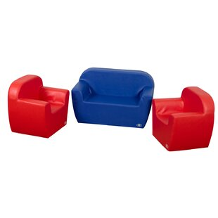 Top Cozy Woodland 3 Piece Club Kids Soft Seating Set By Children's Factory