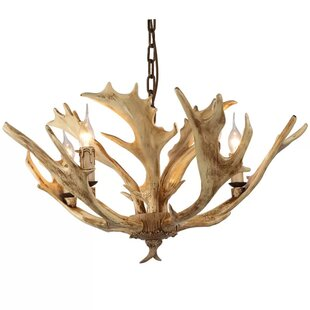 Faux antler chandelier wayfair pekanbaru faux antler 5 light chandelier aloadofball Choice Image